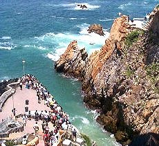 Natural attractions in Acapulco, Mexico.