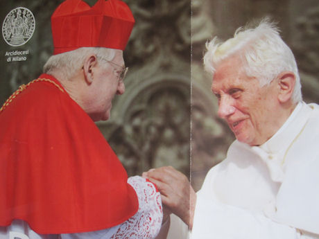 Cardinal Scola meets Pope Benedict XVI