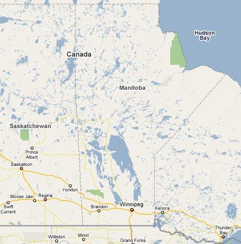 Manitoba Travel Guide Canada Part Of TravelNotesorg - Map of manitoba canada