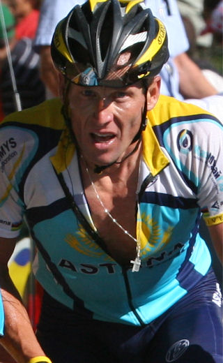 Lance Armstrong in 2009 Tour de France – by Michel Guntern