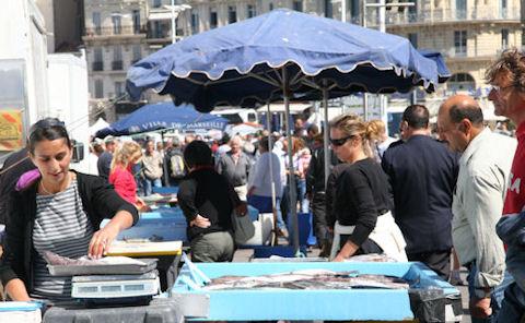 Mareille Vieux Port Fish Market
